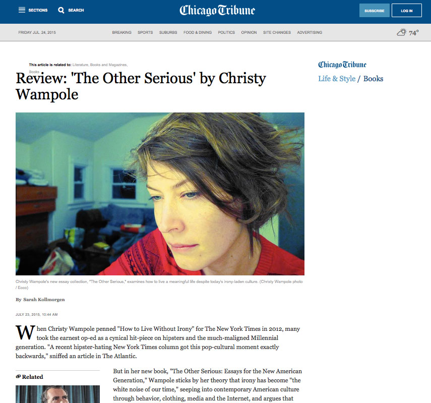 Chicago Tribune review | Christy Wampole