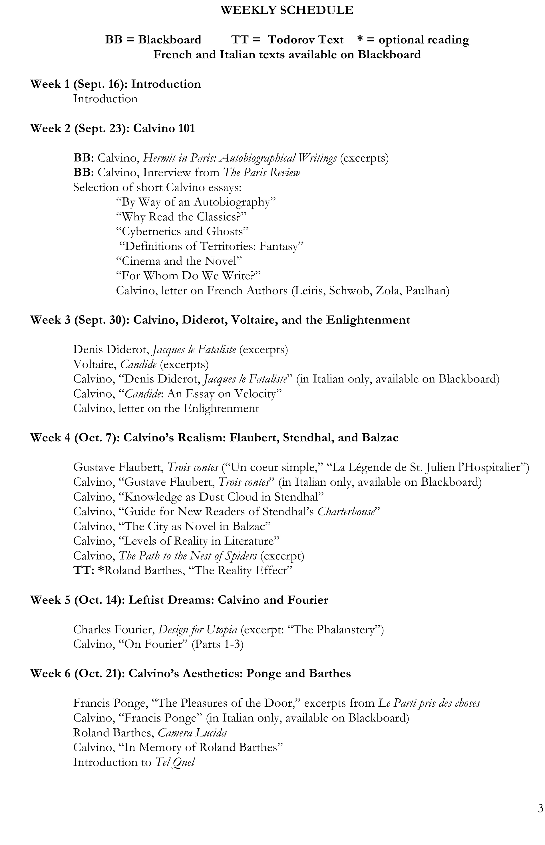 blog christy wampole page  calvino in syllabus calvino in syllabus